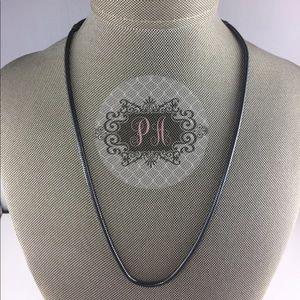 Pandora Oxidized Silver Necklace 590702